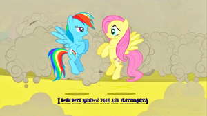 I love both Rainbow Dash and Fluttershy:) by Flutterflyraptor