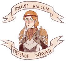 Aveline Vallen Defense Squad by MageMina