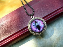 Heart's Blood Pendant - Dragon Eye with Silver-2 by LadyPirotessa