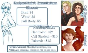 Cheap Commissions! by RaelynnMarie