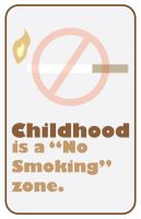 No Smoking in Brown by Lucora