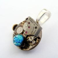 Fused Glass Steampunk by Create-A-Pendant
