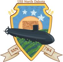 USS North Dakota by RebekahByland