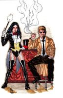 Zatanna and John Constantine by montrosity