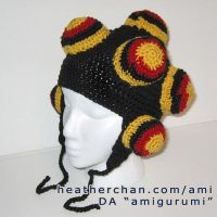 Katamari Hat: black+red+yellow by amigurumi