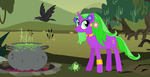 MLP- Swamp Witch Pony Gift Adopt by Dinalfos5