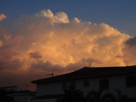 Roof Against The Clouds by Falcoliveira