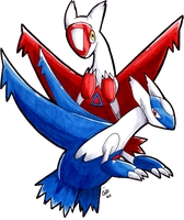 Copic Latias and Latios by raizy