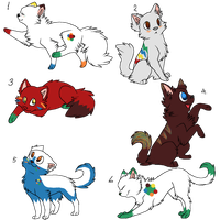 MandM Inspired Cat Adopts by AlysAdoptables