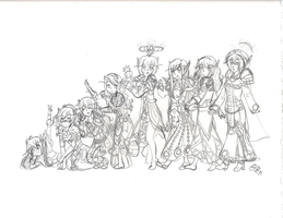A Very Extended Family-rough by aoichan1