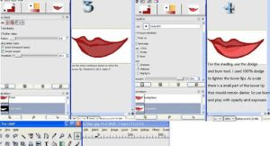 GIMP: coloring  Lips by trishna87