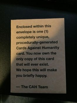 Special Gift from CAH by Fujin777