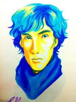 Sherlock Holmes BBC highlighter art by angelz-devil