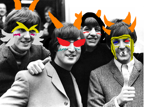 The Beatles as some of the ancestors by daughterofathena099