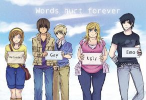 Words hurt forever by Death-taker-girl