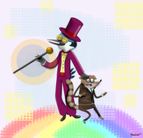 Regular Show - Warden and Jared by yinlin1994