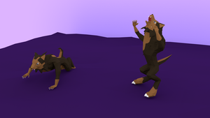 Low-poly Werewolf by xeijin06