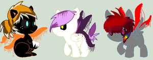 slendy pony foals OTA [OPEN] by MaggiesAdoptables