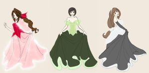 -FF7 girls Disney collection- by Mielz