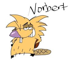 Norbert Beaver Drawing by CartoonAnimes4Ever