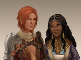 Kinsaeda and Zaina by adelruna