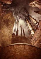 Premade background - Industry by Vashar23