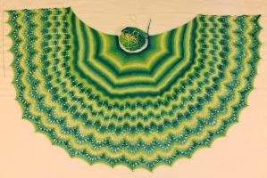 Alpaca, Merino, Silk Weekend Shawl by ewm