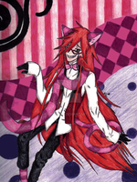 .:Cheshire Grell:. by KymmieCup