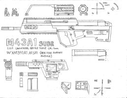 M43A1 Original Concept Sketch by Nyandgate
