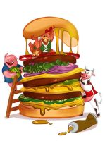 Giant Burger by Missgraza