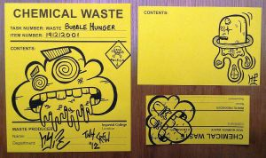 Graffiti Stickers #11 - Chemical Waste Stickers by TNH-Ed-Hill