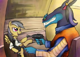 Commission 04 - Daring Do Han Solo Thingy by BuckingAwesomeArt