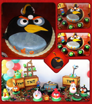 Angry Birds - Bomb - Cake by wk-omittchi
