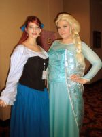 Ariel and Elsa by Lily-Hith-Silme