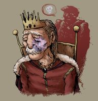 King David, Mourning Absalom by simondrawsstuff