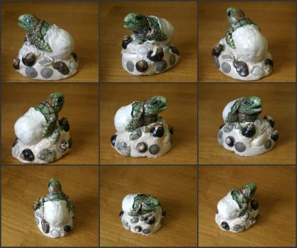 OOAK Hatching Sea Turtle Sculpture by MissNioniel