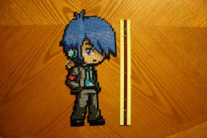 Persona 3 Protagonist Perler by Claymmdude