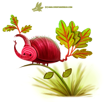 Daily Paint #1206. Beet'le by Cryptid-Creations