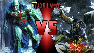 Martian Manhunter vs Super Skrull by Dynamo1212