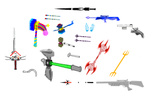Homestuck Weapons part 2 by blahjerry