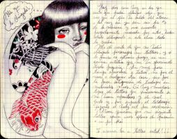 Tattoed Girl - journal6 by LadyOrlandoArt