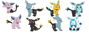 Pokemon Hybrid Adopts 3 CLOSED by sam-speed