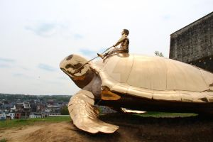 Giant turtle by day by IlanoPhotography
