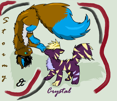 Stormy and Crystal by Little0rca