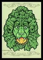 Green Man-Lion by Xenothere