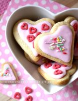 Strawberry Milkshake Sugar Cookies by claremanson