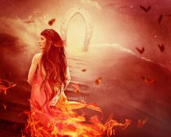 Girl On Fire by eivina-art