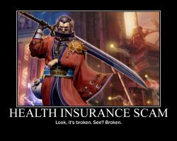 Auron Health Insurance poster by Megamothius