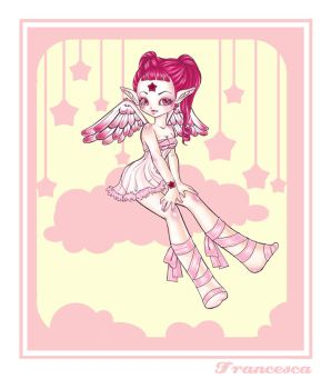 Angel with star color by pinkland