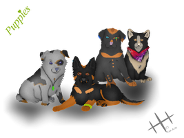 Puppies *-* by Keademia